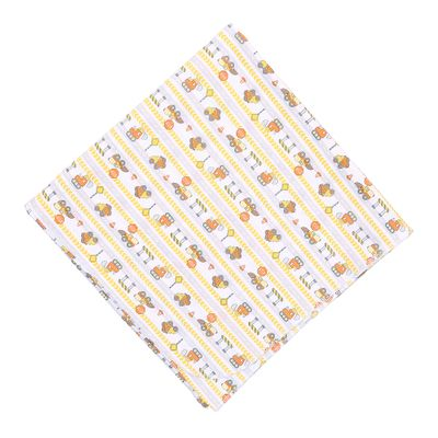 Magnolia Baby Boys Orange Construction Zone Trucks Printed Swaddle Blanket