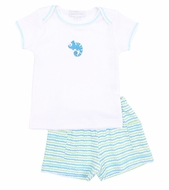 Magnolia Baby Boys Green / Blue Cute Critters Shorts Set