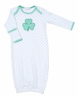 Magnolia Baby White Cutest Little Clover Applique Lap Gown
