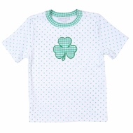 Magnolia Baby Green Toddler Cutest Little Clover Applique Shirt