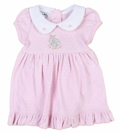 Magnolia Baby Girls Pink Darling Bunnies Embroidered Dress