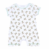 Magnolia Baby Boys Green Duck Life Printed Short Playsuit