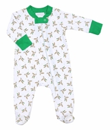 Magnolia Baby Green Duck Life Printed Zipped Footie
