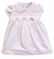 Magnolia Baby Girls Pink Easter Bunny Classics Smocked Dress
