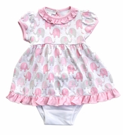 Magnolia Baby Girls Elephant Printed Dress Set - Pink
