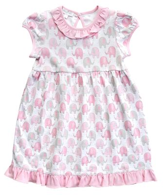 Magnolia Baby Toddler Girls Pink Elephant Printed Dress