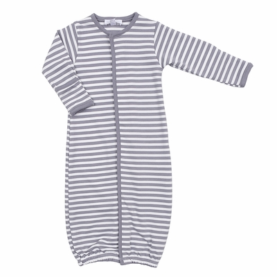 Magnolia Baby Boys Grey Striped Essentials Converter Gown
