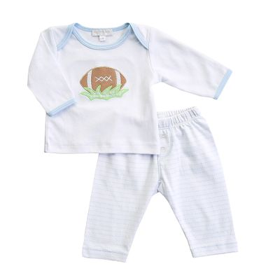 Magnolia Baby Boys Football Fever Blue Pant Set