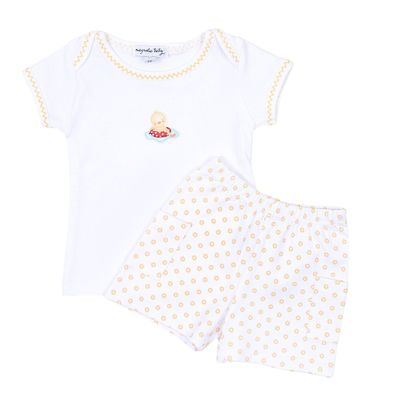 Magnolia Baby Boys Fun in the Sun Embroidered Duck Short Set