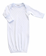 Magnolia Baby Boys Blue Gingham Dots Spring Gown