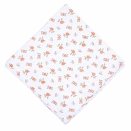 Magnolia Baby Girls Autumn's Classics Orange Fall Floral Printed Swaddle Blanket