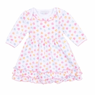 Magnolia Baby Girls Be Mine Printed Ruffle Dress Set - Pastel Valentine Hearts