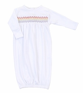 Magnolia Baby Girls / Boys White Gown - Smocked Rainbow