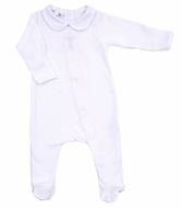 Magnolia Baby Girls / Boys White So Blessed Embroidered Cross Footie