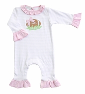 Magnolia Baby Girls Football Fever Pink Ruffle Playsuit