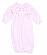 Magnolia Baby Girls Jillian and Jacob's Classics Smocked Bishop Gown - Pink