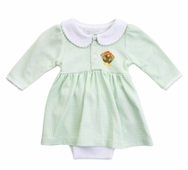 Magnolia Baby Girls Lil' Turkey Classics Green Check Dress Set
