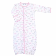Magnolia Baby Girls My Little Star Clouds Printed Converter Gown - Pink