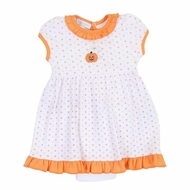 Magnolia Baby Girls Orange My Little Boo Embroidered Dress Set