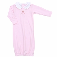 Magnolia Baby Girls Pink Ballet Dreams Embroidered Converter Gown