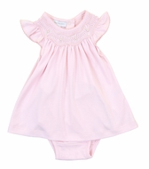 Magnolia Baby Girls Pink Cora and Cole's Classics Smocked Bishop Dress Set