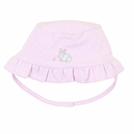 Magnolia Baby Girls Pink Darling Bunnies Embroidered Floppy Hat