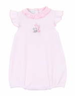 Magnolia Baby Girls Pink Sweet Safari Flutters Bubble