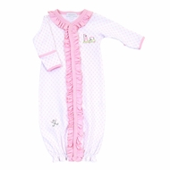 Magnolia Baby Girls Putting Around Pink Golf Ruffle Converter Gown