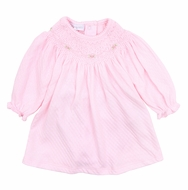 Magnolia Baby Girls Zach and Zoe's Classics Smocked Bishop Dress - Pink