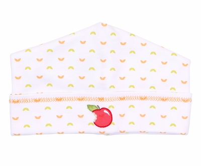 Magnolia Baby Boys / GIrls Gobble Gobble Embroidered Red Apple Hat