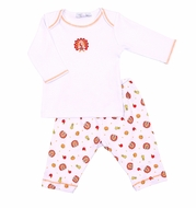 Magnolia Baby Boys / Girls Gobble Gobble Thanksgiving Turkey Printed Pant Set