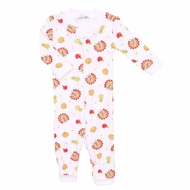 Magnolia Baby Boys / Girls Gobble Gobble Thanksgiving Turkey Print Zipped Pajamas