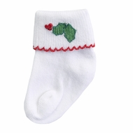 Magnolia Baby Green Happy Holly Days Embroidered Socks