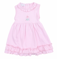 Magnolia Baby Girls Hello Cupcake! Pink Ruffle Sleeveless Birthday Dress Set