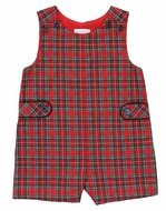 Il Tesoro di Magnolia Baby Boys Red Holiday Plaid Jon Jon