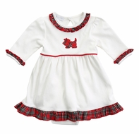 Magnolia Baby Girls Holiday Plaid Scottie Dog Dress Set
