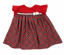 Il Tesoro di Magnolia Baby Girls Red Holiday Plaid Dress Set