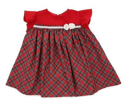 Magnolia Baby Girls Red Holiday Plaid Dress Set