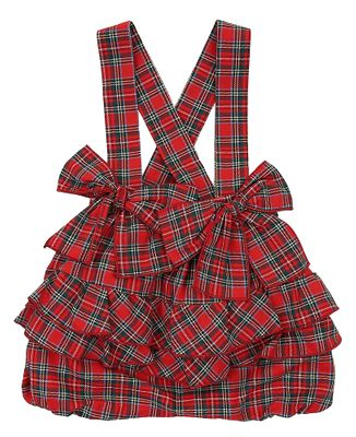 Il Tesoro di Magnolia Baby Girls Red Holiday Plaid Ruffle Shorts Bubble