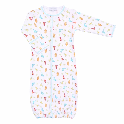 Magnolia Baby Boys Jurassic Dinosaurs Printed Converter Gown