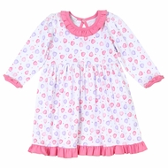 Magnolia Baby Little Girls Lil' Sweetheart Pink Hearts Printed Dress