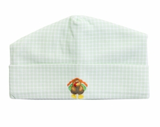Magnolia Baby Boys / Girls Lil' Turkey Classics Green Check Hat
