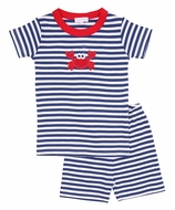 Magnolia Baby Little Boys Blue / Red Crabfest Short Pajamas