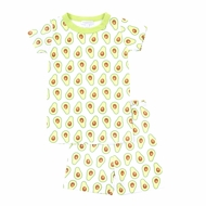 Magnolia Baby Little Boys / Girls Green Avocados Short Pajamas