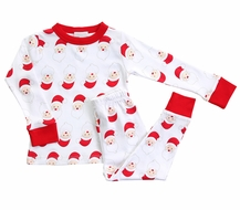 Magnolia Baby Little Boys / Girls Red Santa Print Christmas Pajamas