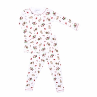 Magnolia Baby Little Boys / Girls Santa's Helper Long Sleeve Pajamas - Christmas Print