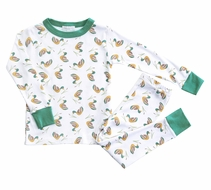 Magnolia Baby Little Boys Green Duck Pond Long Pajamas
