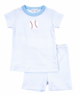 Magnolia Baby Little Boys Love Baseball Applique Short Pajamas