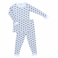 Magnolia Baby Little Boys My First Buck Blue Long Sleeve Pajamas