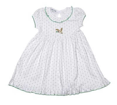 Magnolia Baby Little Girls Green Duck Life Embroidered Dress